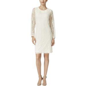 NWT Style & Co Women's Size XS Ivory Lace Illusion